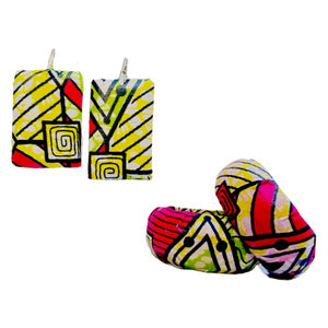 Large Pink Statement Earrings - Zabba Designs African Clothing Store