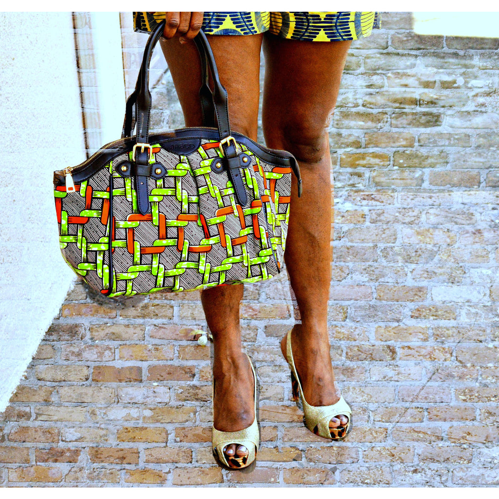 Trendy Green Tote Handbag - Zabba Designs African Clothing Store