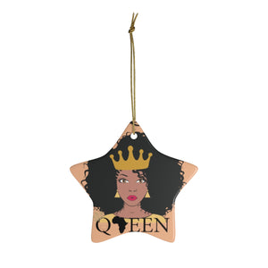The Queen Gold And Orange Ceramic Ornaments - Zabba Designs African Clothing Store