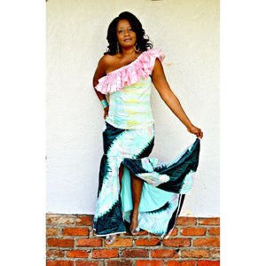 African Print Evening Dress - Zabba Designs African Clothing Store