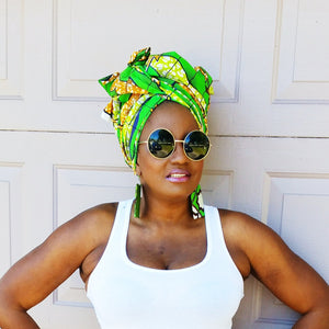 THE Green SAMBA Headwrap - Zabba Designs African Clothing Store