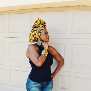 Massa African Print Head Wrap - Zabba Designs African Clothing Store