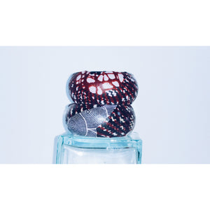 Women Wood Fabric Bangles - Zabba Designs African Clothing Store