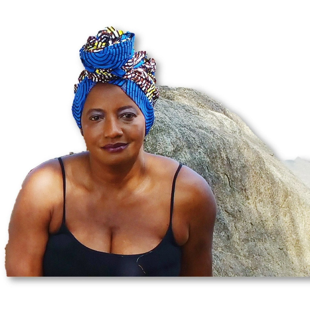African Print Headwrap, Women's Head Scarf - Zabba Designs African Clothing Store