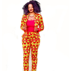 JOKO African Print Blazer And Pant Suit - Zabba Designs African Clothing Store