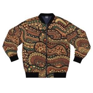 New Yorker African Print  Men's  Bomber Jacket - Zabba Designs African Clothing Store
