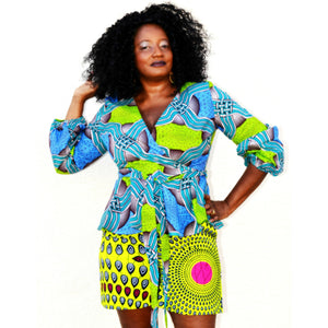 MANI African Peplum Top - Zabba Designs African Clothing Store