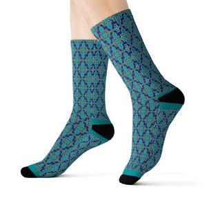 Maccy African Inspired Unisex African Print Socks - Zabba Designs African Clothing Store