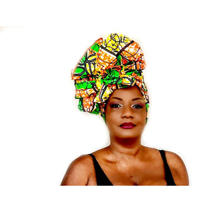 Rose African Print Head wrap - Zabba Designs African Clothing Store