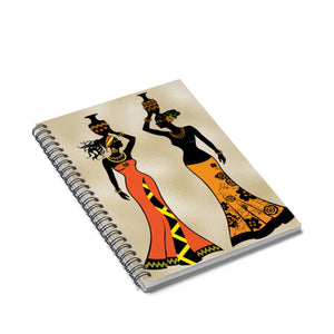 Village  Queen Headwrap Spiral Notebook - Ruled Line - Zabba Designs African Clothing Store