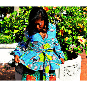 MANI African Peplum Top - Zabba Designs African Clothing Store  - 2