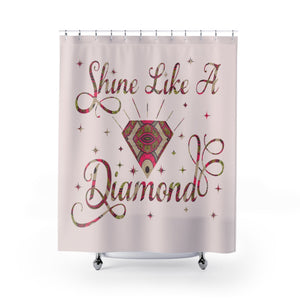 Ankara Diamond African Inspired Shower Curtain - Zabba Designs African Clothing Store