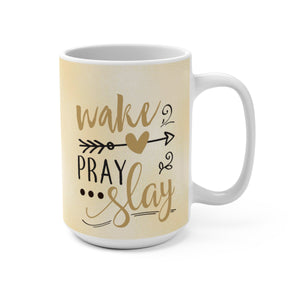 Work Pray And Slay Coffee Mug - Zabba Designs African Clothing Store