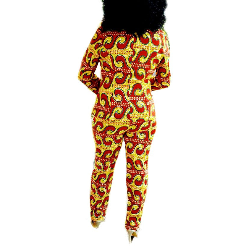 JOKO African Print Blazer And Pant Suit - Zabba Designs African Clothing Store  - 6