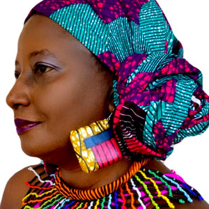 Sap African Print Cover Earring - Zabba Designs African Clothing Store