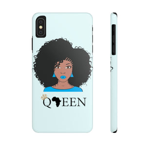Blue Afro Queen Case Mate Slim Phone Cases - Zabba Designs African Clothing Store