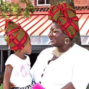 Imani Mommy And Me African HeadWrap - Zabba Designs African Clothing Store  - 1