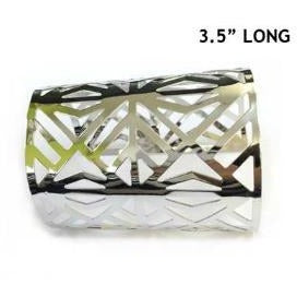 POLISHED METAL CUTOUT CUFF BANGLE - Zabba Designs African Clothing Store