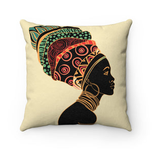 Tiffany African Print Throw Suede Square Pillow Case - Zabba Designs African Clothing Store