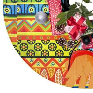 Bella African Inspired  Christmas Tree Skirt - Zabba Designs African Clothing Store