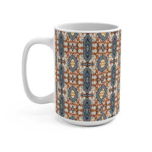 Brown Traditional Ethnic Print  Designer's  Coffee Mug