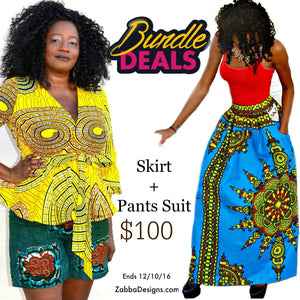 Waki African Print Bundle Set - Zabba Designs African Clothing Store