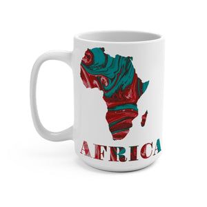 Red Map Of Africa Designer's  Coffee Mug - Zabba Designs African Clothing Store