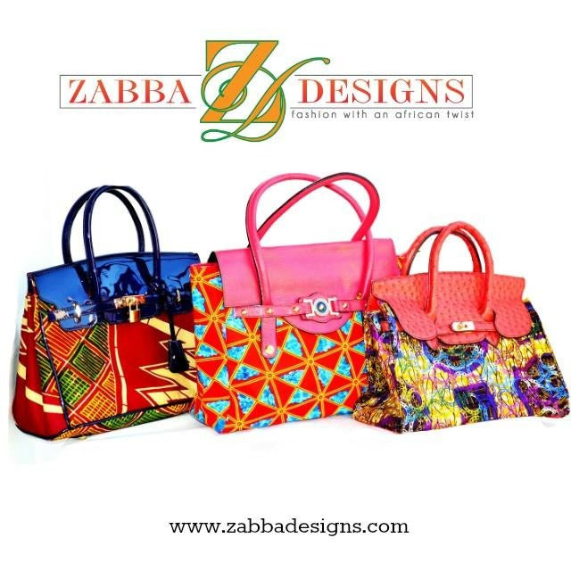 Multicolor African Fabric Bag - Zabba Designs African Clothing Store