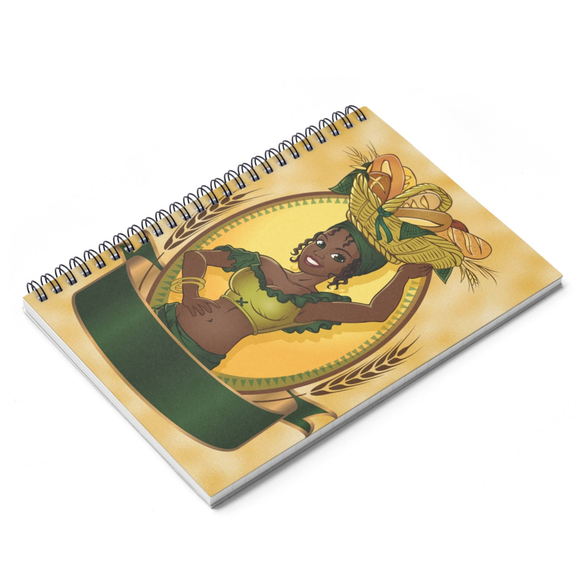 African Women Village Life Spiral Notebook - Ruled Line - Zabba Designs African Clothing Store
