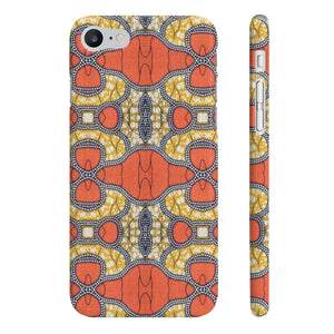 Orange African Print Slim Phone Cases - Zabba Designs African Clothing Store