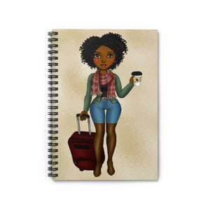 Go Girl Spiral Notebook - Ruled Line - Zabba Designs African Clothing Store