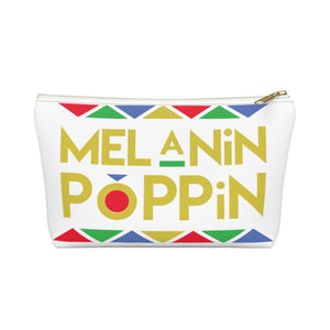 Melanin Poppin Make up Pouch w T-bottom - Zabba Designs African Clothing Store