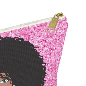 Miss Pink Make up Pouch w T-bottom