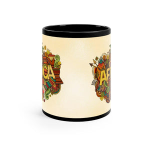 African Tribal Black mug 11oz