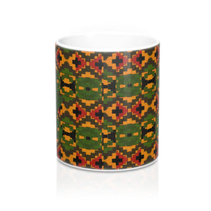 Green African Designer's  Coffee Mug - Zabba Designs African Clothing Store