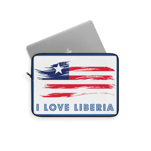 I Love Liberia Too Laptop Sleeve - Zabba Designs African Clothing Store