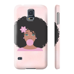 Jaz Pink Bubble Gum Afro Phone Case - Zabba Designs African Clothing Store