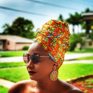 KEY WEST Head Wrap And Jewelry Set - Zabba Designs African Clothing Store