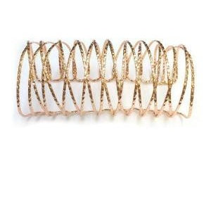 ROSE GOLD TEXTURED WOVEN WIRE CUFF BRACELET - Zabba Designs African Clothing Store