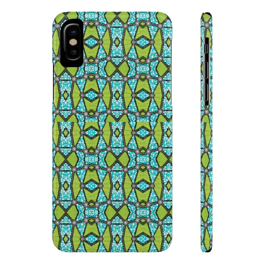 Chuks Green African Priint Case Mate Slim Phone Cases - Zabba Designs African Clothing Store