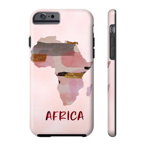Pink Map Of Africa Cell Phone Case