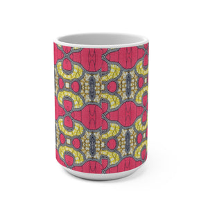 Pink African Print Designer's  Coffee Mug - Zabba Designs African Clothing Store