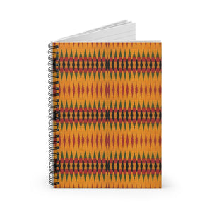 MYRA  Print Spiral Notebook - Ruled Line - Zabba Designs African Clothing Store