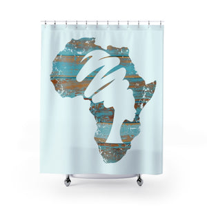 Blue Mama Africa Shower Curtain - Zabba Designs African Clothing Store