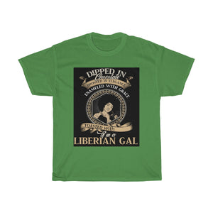 Liberian Girl Dipped In Chocolate Unisex  T Shirt - Zabba Designs African Clothing Store