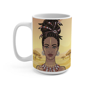 Black Afro Queen Coffee Mug