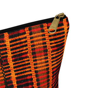 Kente Print Inspired Make up Pouch w T-bottom - Zabba Designs African Clothing Store