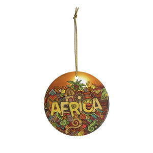 Africa Dreaming Ceramic Ornaments - Zabba Designs African Clothing Store