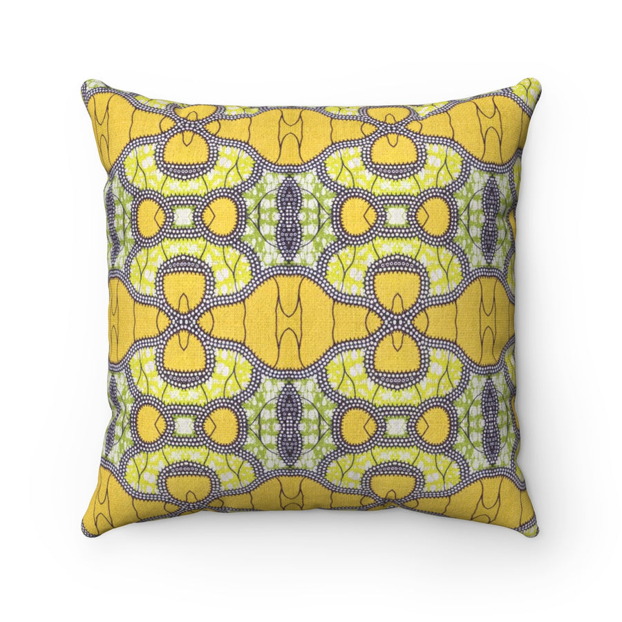 Sunflower African Print Square Pillow