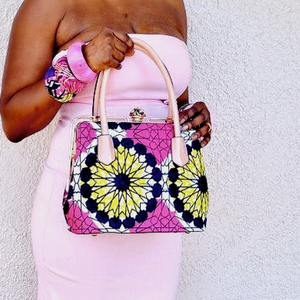 Pink Top Handle African Bag